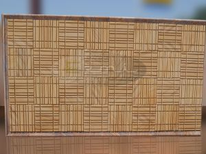 15 plus 10 wall cladding design of teak sandstone
